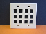 12 PORT DOUBLE GANG KEYSTONE FACEPLATE